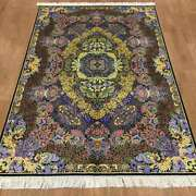 Yilong 4and039x6and039 Handicraft Classic Silk Rug Busy Design Family Room Carpet Z150a