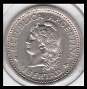 1957 Argentina Nearly Unc. One Peso Coin Km57 First Year Of Issue 57-62