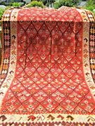 Antique Dated 1913 Armenian Caucasian Big Kelim Great Colors 13and0399 X 7and0391