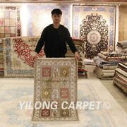 Yilong 2.5and039x4and039 Four Seasons Handmade Rugs Floral Hand Knotted Silk Carpets 161a
