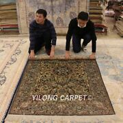 Yilong 4and039x6and039 Palace Hand Knotted Silk Area Rug Vintage Nice Handmade Carpet 068m