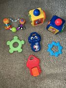 Fisher Price Mattel First Years Blocks Baby Infant Toys Lot Of 7 ❤️tw11j