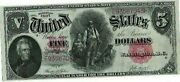Woodchopper 5 1907 Very Nice Crisp Au 55 Note...close To Mint Condition