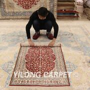 Yilong 2.5and039x4and039 Small Red Handmade Rug Living Room Hand Knotted Silk Carpet 183a