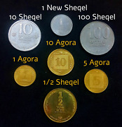Set Of 7 Old And New Sheqel Israel Hanukkah Lot Coins Special Issue Mint Edition