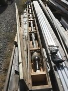 16ft X 2 1/2andrdquo Stainless Steel Ball Screw Rod W/ Bronze Carrier 160andrdquo Of Travel