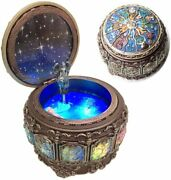Vintage Music Box With Constellations Rotating Goddess Led Lights Twinkling