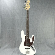 New Fender Made In Japan Heritage 60s Jazz Bass Olympic White Electric Guitar
