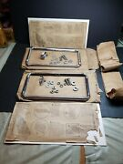 2 Nos Adjustable License Plate Frame 1940and039s Auto Hot Rat Rod Motorcycle Original