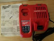 Brand New Milwaukee 48-59-1808 M12 / M18 Rapid Charger - Red/black