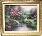 Tomas Kinkade The Garden Of Prayer Ii On S/n Canvas 24 X 30 Limited Edition