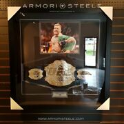 Conor Mcgregor Signed Frame With Official Ufc Replica Belt - 10k Gold Plated + P
