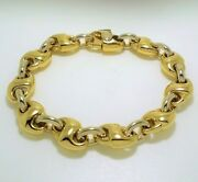 18k Yellow White Gold Bracelet High Goldsmith Made In Italy High Discount 35