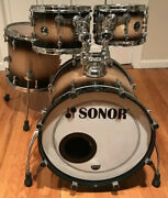Sonor Delite - 4-piece Drumkit - One Of A Kind - Brown Fade - Wow - Drums