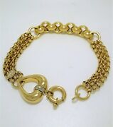 18k Yellow Gold Bracelet High Craftmanship Made In Italy High Discount 35