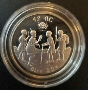 Ethiopia International Year Of The Child 20 Birr 1979 Proof Silver Crown Km 54