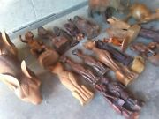 Vintage Wooden Figurines Hand-carved Assortment Horse Elephant And More