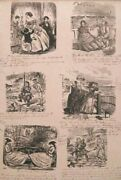 Intriguing 19th C Sd Book Periodical Illustrations Etching W/ Handwritten Notes