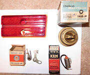 Vintage 1940s Lot Packard Accessories Parts Glass 1946-7 Tail Light Box Car Auto