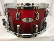 Pearl Reference 14 Diameter X 8 Deep Snare Drum/scarlet Fade/155/rare