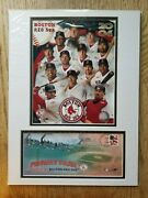 2004 Boston Red Sox Matted Team Photo And Fenway Park Usps First Day Cover