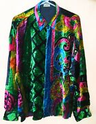 Gianni Versace Silk Velvet Menand039s Shirt Size It 52 From Fw 1990/91