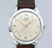 Tissot 3hands Original Silver Dial Manual Winding Vintage Watch 1950and039s