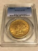 1869-s Au55 Pcgs Liberty Double Eagle 20 Gold Coin Pq Great Eye Appeal