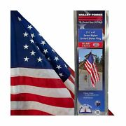 60650 Valley Forge 2.5and039 X 4and039 Sewn Nylon Self-sleeved United States Flag
