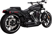 Vance And Hines Black Mini Grenade Exhaust For 18-19 Harley Softail Fat Boy