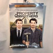 Autographed Property Brothers Poster 18 X 24 Hgtv Jonathan Drew Scott Brothers