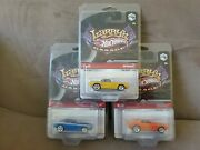 Hot Wheels Larryand039s Garage 69 Camaroand039s W/real Riders. Lot Of 3. W/protecto Paks