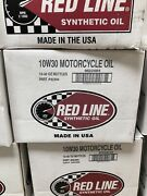 12 Red Line 10w30 Synthetic Motorcycle Oil One Case 42304