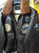 Schott Nyc Wings Of Gold Flight Jacket/brown Antique Lambskin Leather New/tags