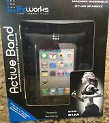 Lifeworks Active Band Iphone Ipod Touch Mp3 Nylon Spandex Arm Band S/m Black