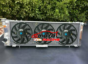 Radiator + Fans For Jeep Cherokee Xj Wagoneer Comanche Mj Truck 2.5 4.0 91-01 At