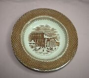 Antique Advertising Theatre Brown Transfer Ware D W Patent Serving Bowl England