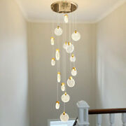 Customized Led Bubble Crystal Staircase Pendant Lamp Living Room Ceiling Lightin