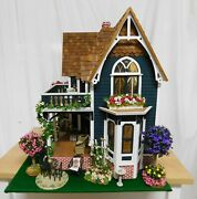 Large Beautiful Victorian Doll House Furnished