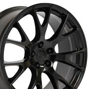 20 Rim Set Fit Dodge Charger Challenger Hellcat Wheels Gloss Black 2528