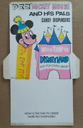 Disney 1970s Pez Mickey Mouse And Friends Header Card From Display Disneyland Trip
