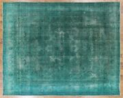 Oriental Hand Knotted Overdyed Area Rug 10 X 13 - W2066