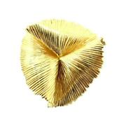 And Co. Vintage 14k Gold Folded Wire Petal Brooch