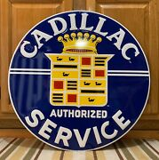 Cadillac Service Metal Sign Garage Vintage Style Wall Decor Tools Oil Gas Bar