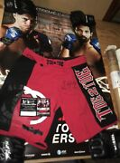 Fight Worn Trunks Wec 43 Poster Sbc Signed Auto Event Used - Ufc Pride Fc Mma