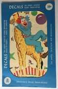 1960's Bozo The Clown Large Decal By Meyercord Decal Corporations
