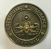 Eod Military Bomb Technician Challenge Coin Marine Navy Usaf Army Explosive Ord