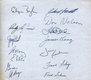 1963-64 L.a. Lakers Nba Autographed 8x7 Team Sheet 12 Total W West, Baylor, King