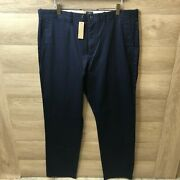 J Crew Mens 34x32 1040 Stretch Athletic Fit Navy Blue Chino Pants New G9475