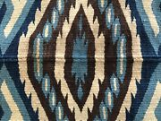 Large Antique Texcoco Mexican Blanket